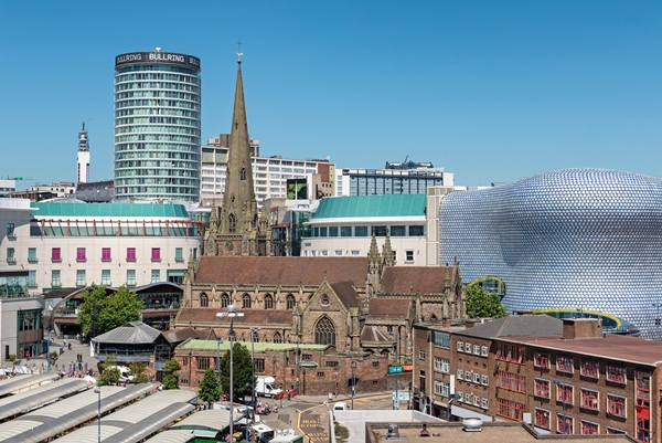 Skyline of Birmingham, England, UK.